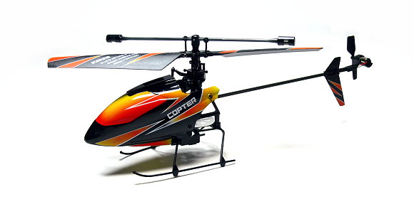 Wltoys RC Model V911 4ch 2.4GHz Remote Control Orange Helicopter (Mode 2) EH012