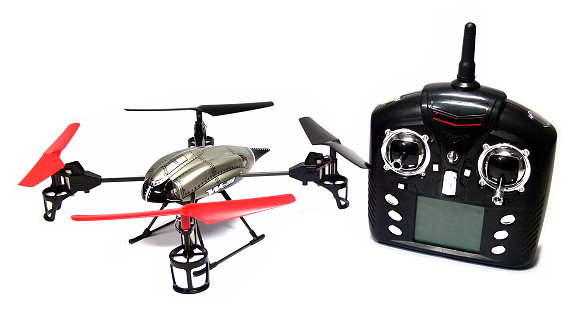 Wltoys RC V959 2.4GHz 4ch Battlaeship Qudacopter with Camera (Mode 1) QC520