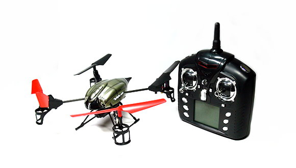Wltoys RC V959 2.4GHz 4ch Battlaeship Qudacopter with Camera (Mode 2) QC530