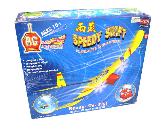 WSN Model Aircraft Speedy Swift Twin Motor Radio Controlled Airplane 06107 EA529