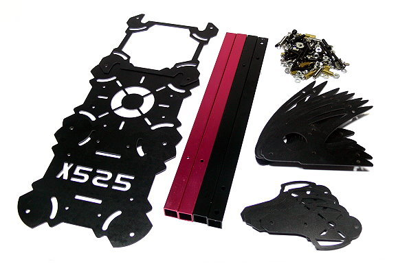 RC Model X525 Folding Frame Friber Glass Multi Quadcopter (Body Only) QC200