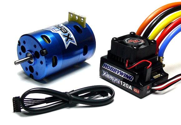 HOBBYWING XERUN 7300KV RC Sensored Brushless Motor & 120A ESC + LCD Card ME257