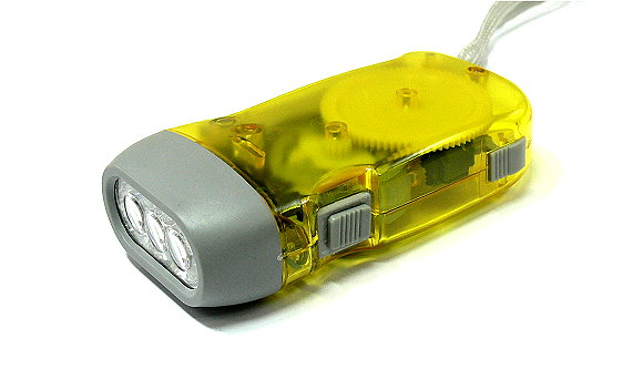 Outdoor Yellow Hand Pressing Flashlight FL588