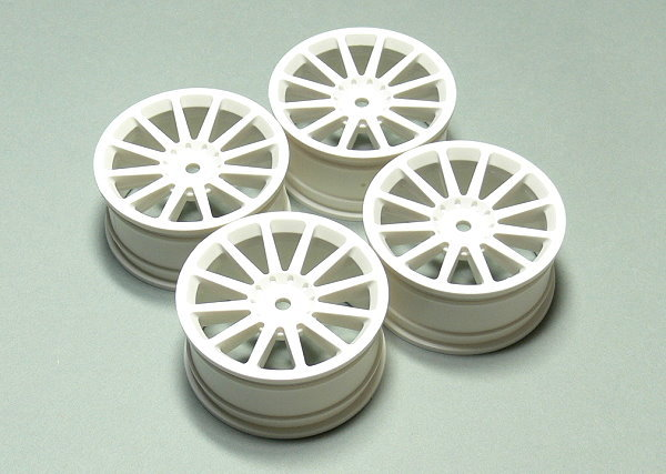Yokomo RC Model TW-0212-2 White 12-Spoke Wheels (4pcs) WT650