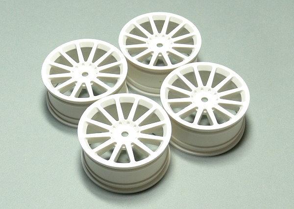 Yokomo RC Model TW-0212-2 White 12-Spoke Wheels (4pcs) WT650
