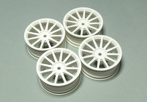 Yokomo RC Model TW-0213-2 White 12-Spoke Wheels (4pcs) WT645