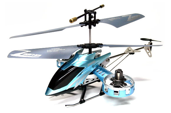 Z008 RC Model 4ch Blue Gyro LED R/C Hobby Mini Electric Helicopter RTF EH455