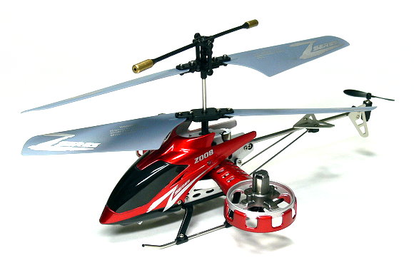 Z008 RC Model 4ch Red Gyro LED R/C Hobby Mini Electric Helicopter RTF EH460