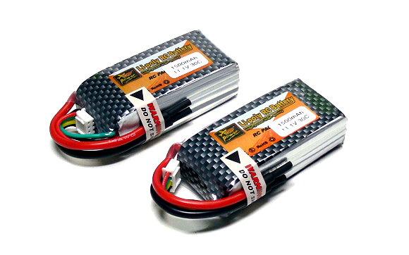 2x ZOP RC Model 1500mah 11.1v 30C LiPo Li-Polymer Lithium Polymer Battery CA195