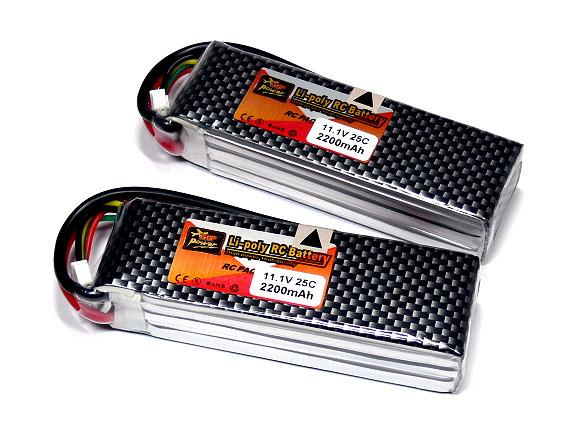 2x ZOP RC Model 2200mah 11.1v 25C LiPo Li-Polymer Lithium Polymer Battery CA157