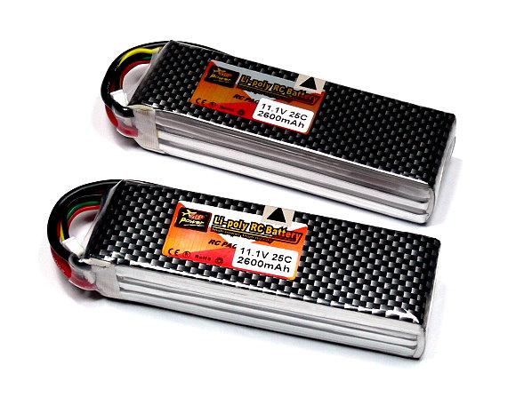2x ZOP RC Model 2600mah 11.1v 25C LiPo Li-Polymer Lithium Polymer Battery CA159