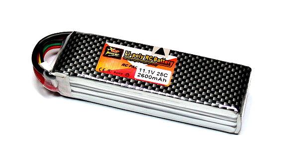 ZOP RC Model 2600mah 11.1v 25C LiPo Li-Polymer Lithium Polymer Battery RB100