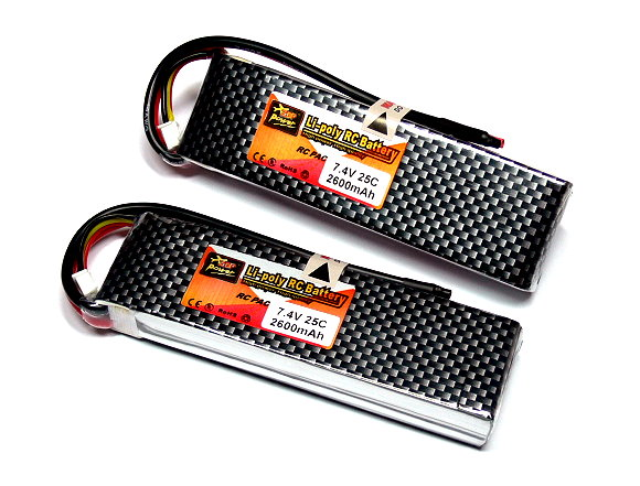 2x ZOP RC Model 2600mah 7.4v 25C LiPo Li-Polymer Lithium Polymer Battery CA158