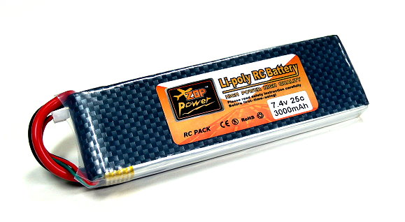 2x ZOP RC Model 3000mah 7.4v 25C LiPo Li-Polymer Lithium Polymer Battery CA198