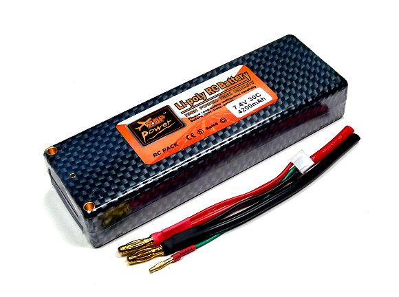2x ZOP RC Model 4200mah 7.4v 30C LiPo Li-Polymer Lithium Polymer Battery CA200