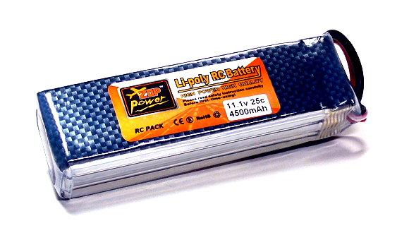 2x ZOP RC Model 4500mah 11.1v 25C LiPo Li-Polymer Lithium Polymer Battery CA192