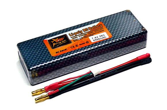 2x ZOP RC Model 4500mah 7.4v 25C LiPo Li-Polymer Lithium Polymer Battery CA191