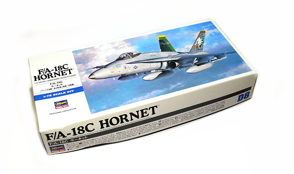 Hasegawa 1//72 US Navy F A18D Hornet Model D9