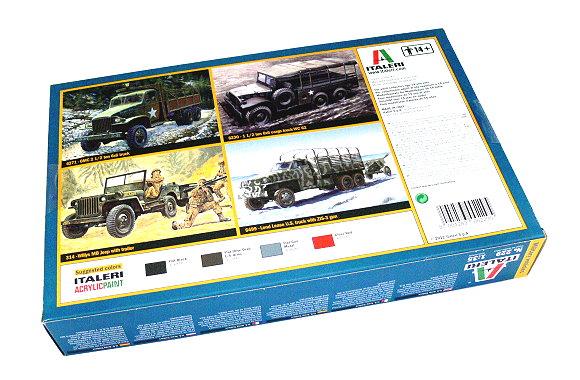 Italeri 1//35 Scale 250 Gal Tank Trailer /& M101 Cargo Trailer Model Kit 229 NEW!