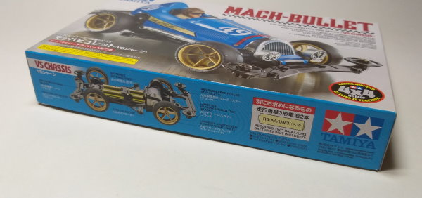 Tamiya Model Mini 4WD Racing Car 1/32 Scale 4WD Mach-Bullet VS Chassis 18091