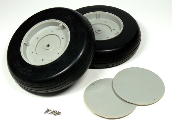 R//C Hobby Wheels Tires 2pcs WH794 RC Model Airplane 70mm 2.75 in