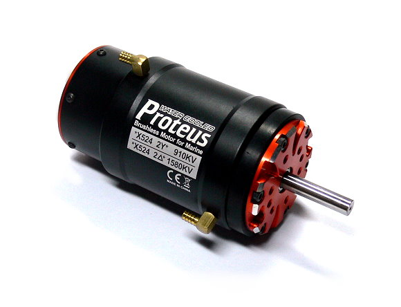 Details about SKYRC Proteus Water Cooled X524 910KV 1580KV Brushless Motor  for Marine IM679
