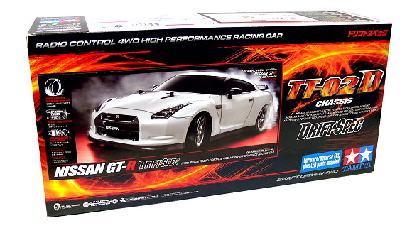 Tamiya EP RC Car 1/10 NISSAN GT-R Drift Spec TT02D Chassis 4WD with ...