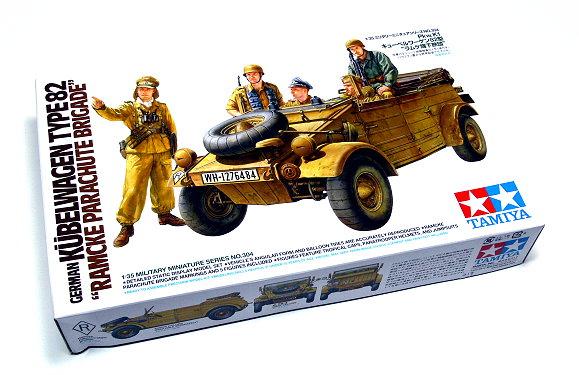 New TAMIYA 1//35 German Kubelwagen Type 82 Ramcke Parachute F//S from Japan