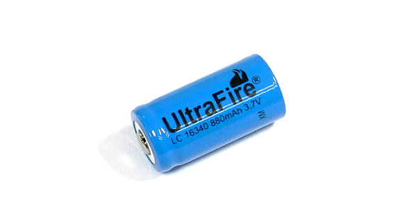 UltraFire Model LC 16340 880mAh 3 7V Rechargeable Battery